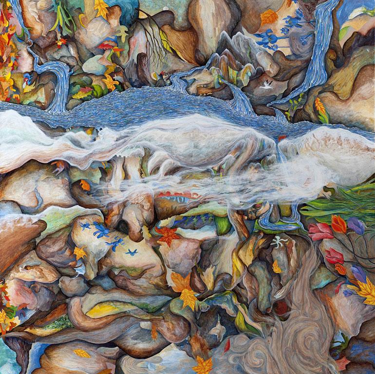 Four Seasons, oil on canvas, 48 x 48, 2012