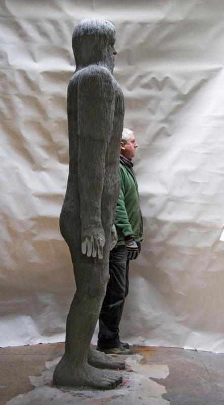 Albino Big Foot - sculpture